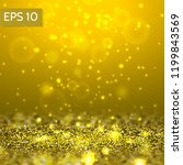 yellow glitter lights vector...   Shutterstock .eps vector #1199843569