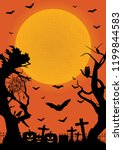 halloween poster. halloween...   Shutterstock .eps vector #1199844583