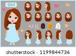 cartoon character girl...   Shutterstock .eps vector #1199844736