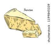 vector illustration of parmesan ... | Shutterstock .eps vector #1199845339