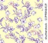 vintage flowers clematis....   Shutterstock .eps vector #1199846419