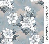 vintage flowers peonies....   Shutterstock .eps vector #1199846440