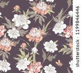 vintage flowers peonies....   Shutterstock .eps vector #1199846446