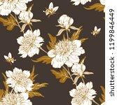 vintage flowers peonies....   Shutterstock .eps vector #1199846449