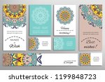 vector set of greeting cards or ... | Shutterstock .eps vector #1199848723