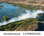 the victoria falls is the... | Shutterstock . vector #1199849320