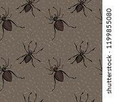 halloween surface seamless... | Shutterstock .eps vector #1199855080