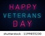 usa veterans day background...   Shutterstock .eps vector #1199855230