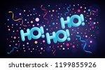 santa claus ho ho ho light blue ... | Shutterstock .eps vector #1199855926