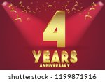 4th anniversary numbers.... | Shutterstock .eps vector #1199871916