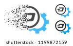 dash configuration gear icon in ... | Shutterstock .eps vector #1199872159
