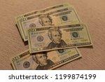 money twenty dollar bills   Shutterstock . vector #1199874199