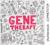 gene therapy lettering with... | Shutterstock .eps vector #1199875729