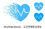 heart pulse icon in dispersed ... | Shutterstock .eps vector #1199881696