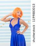 fashion mannequin. woman crazy... | Shutterstock . vector #1199883013
