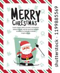 santa clauses for christmas... | Shutterstock .eps vector #1199885569