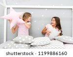 girls sleepover party ideas....   Shutterstock . vector #1199886160