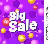 big sale banner template purple ... | Shutterstock .eps vector #1199889610