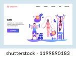 vector web site linear art... | Shutterstock .eps vector #1199890183