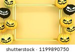 smiling yellow and black... | Shutterstock . vector #1199890750