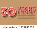 30th anniversary numbers.... | Shutterstock .eps vector #1199895250