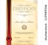 certificate template | Shutterstock .eps vector #119989546