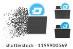 dash folder icon in fractured ... | Shutterstock .eps vector #1199900569