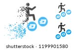 man climb dash coins icon in... | Shutterstock .eps vector #1199901580