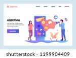 vector web site linear art... | Shutterstock .eps vector #1199904409