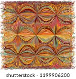 tapestry with abstract colorful ... | Shutterstock .eps vector #1199906200