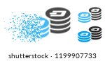 dash coin columns icon in... | Shutterstock .eps vector #1199907733