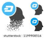 dash thinking head icon in... | Shutterstock .eps vector #1199908516