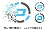 dash pie chart icon in... | Shutterstock .eps vector #1199908963