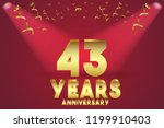 43th anniversary numbers.... | Shutterstock .eps vector #1199910403