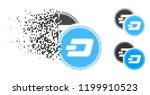 dash coins icon in dissipating  ... | Shutterstock .eps vector #1199910523