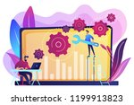 technical support guys working... | Shutterstock .eps vector #1199913823