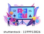 swot analysis team working on... | Shutterstock .eps vector #1199913826