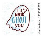 pun halloween illustration with ...   Shutterstock .eps vector #1199915773