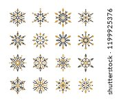 set of snowflakes christmas... | Shutterstock .eps vector #1199925376