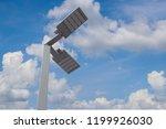 led lighting of road are saving ... | Shutterstock . vector #1199926030