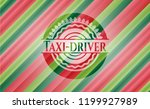 taxi driver christmas colors... | Shutterstock .eps vector #1199927989