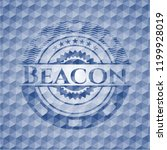 beacon blue badge with... | Shutterstock .eps vector #1199928019