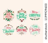 set of christmas greeting badge ... | Shutterstock .eps vector #1199929603