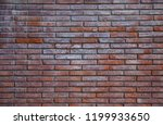 empty red brick wall texture...   Shutterstock . vector #1199933650