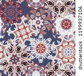 seamless multicolor pattern... | Shutterstock .eps vector #1199937106