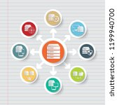 database and data analysis icon ... | Shutterstock .eps vector #1199940700