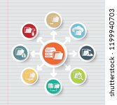database and data analysis icon ... | Shutterstock .eps vector #1199940703
