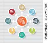 database and data analysis icon ... | Shutterstock .eps vector #1199940706
