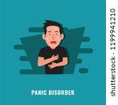panic disorder. psychological... | Shutterstock .eps vector #1199941210