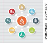 gas industrial icon info... | Shutterstock .eps vector #1199941879